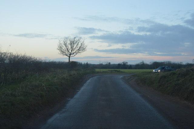 Sharp bend, Mattishall Lane