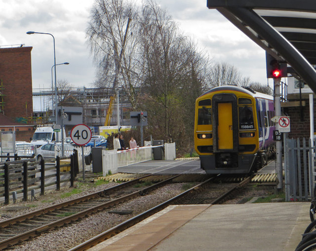 Beverley Station and level crossing