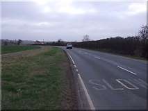 TF3686 : Approaching a bend on Manby Road (B1200) by JThomas