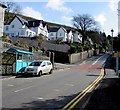 SS9994 : Bus shelter and speed camera, Penrhys Road, Ystrad by Jaggery
