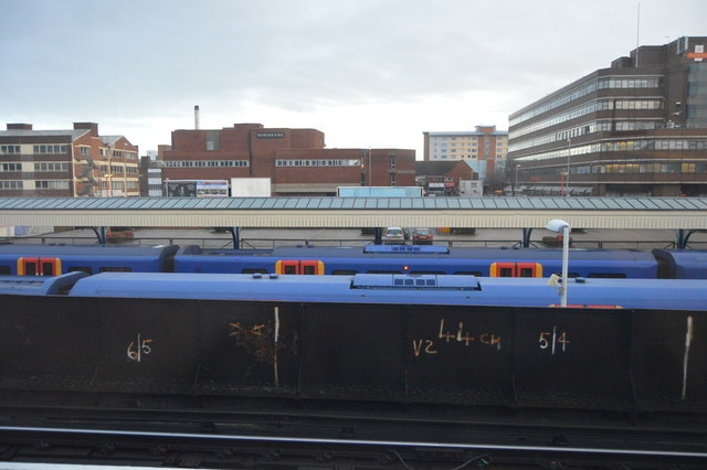 Trains at Portsmouth & Southsea Station
