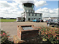 TM3553 : Airfield Memorial and Bentwaters Control Tower by Adrian S Pye