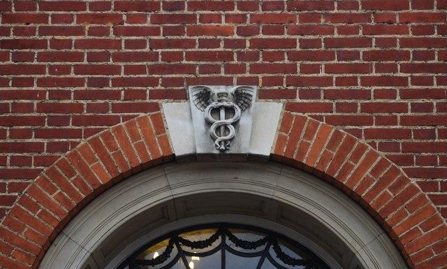 Caduceus, former post office, Woodbridge