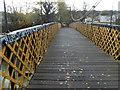 ST6071 : South across a suspension river footbridge, Bristol by Jaggery