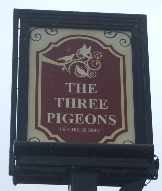 Sign for the Three Pigeons