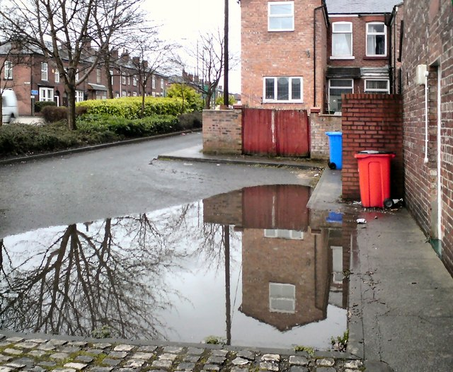 Undertaker's car park underwater