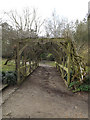 TG1908 : Pergola at Earlham Hall by Adrian Cable