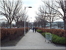 NT1772 : Path at Gyle Centre, near Edinburgh by Malc McDonald