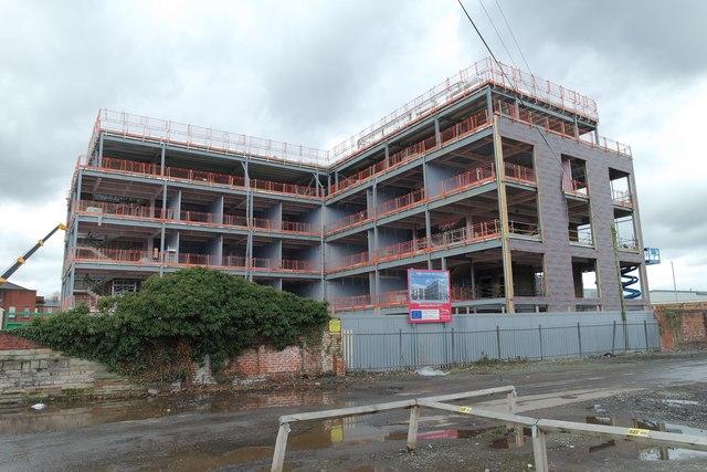 Construction of Warrington Business Incubator