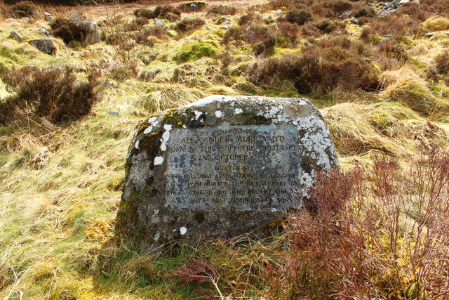 Memorial Stone at Dunkitterick Cottage