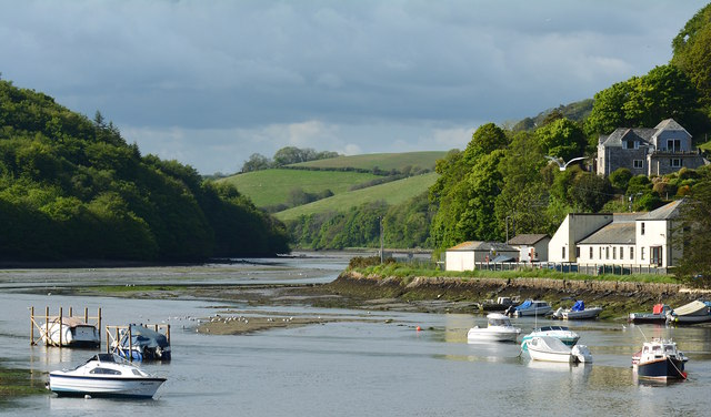 Low tide at East Looe River