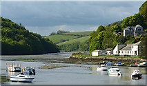 SX2553 : Low tide at East Looe River by Edmund Shaw