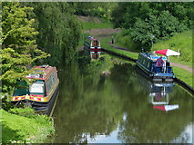 SO8483 : Narrowboats along the Staffordshire & Worcestershire Canal by Mat Fascione