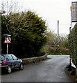 SS9669 : Two-way traffic sign, Turkey Street, Llantwit Major by Jaggery