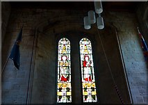 SD3676 : St John the Baptist, Flookburgh: stained glass windows (a) by Basher Eyre