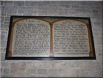 SD3676 : St John the Baptist, Flookburgh: The Creed/Lord's Prayer by Basher Eyre