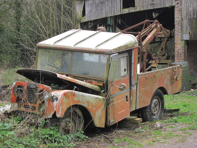 Abandoned Land Rover Wood S Farm 169 Oast House Archive