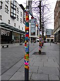 SX9292 : Bedford Street, Exeter with yarnbombing by David Smith