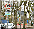 J3372 : 20 mph zone sign, Belfast Avenue, Belfast (April 2015) by Albert Bridge