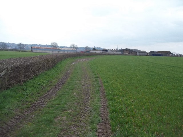 Footpath Approaching Bladon Farm