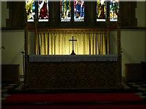 NY2623 : Keswick St John: altar by Basher Eyre