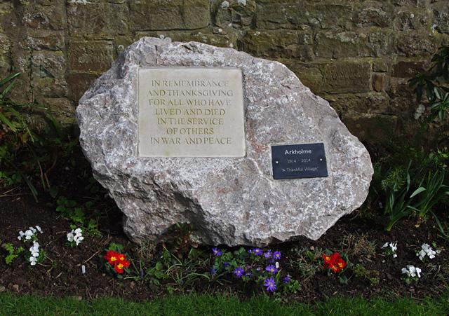 Remembrance stone, Arkholme