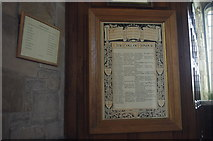 SD5871 : Roll of Honour, St John the Baptist, Arkholme by Ian Taylor