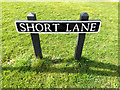 TG2002 : Short Lane sign by Adrian Cable