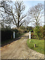 TG1902 : Entrance to The Old Rectory by Adrian Cable
