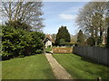 TG1902 : Church Path & Lych Gate of St Mary's Church by Adrian Cable
