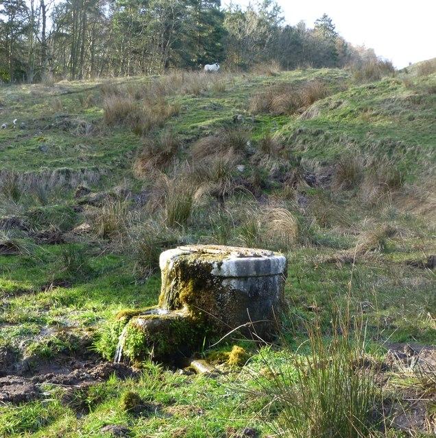Well beside Prendwick Burn