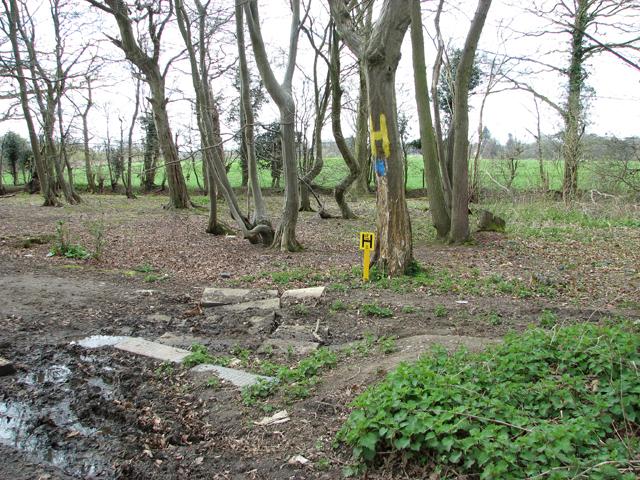 Water main marker post