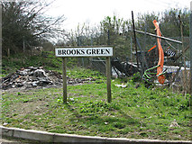 TG2103 : Brooks Green sign by Evelyn Simak