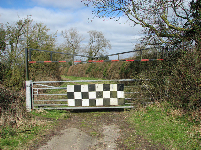 Locked gate on Mangreen