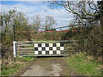 TG2103 : Locked gate on Mangreen by Evelyn Simak