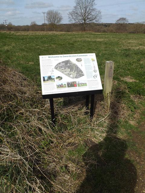 Information Board on Swardeston Common