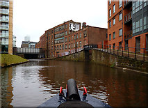 SJ8297 : Bridgewater Canal:  Junction with old side arm by Dr Neil Clifton