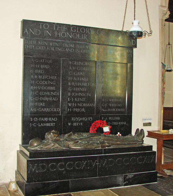 The War Memorial at Ditchingham St. Mary's church