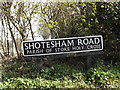 TG2400 : Shotesham Road sign by Adrian Cable