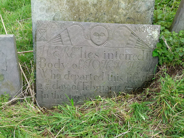 Kinoulton Old Churchyard - Belvoir Angel headstone