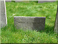 SK6929 : Hickling Churchyard - C18 slate headstone by Alan Murray-Rust