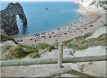 SY8080 : Durdle Door, old steps by Mike Faherty