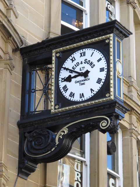 Clock on Reid & Sons, 23-27 Blackett Street, NE1