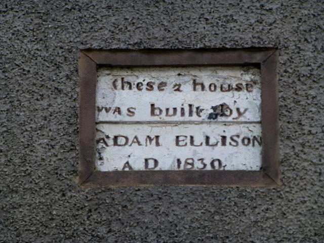 Dated plaque, Glenarm