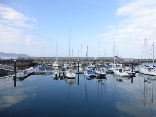 The still waters of Glenarm Marina