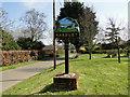TG3700 : Hardley village sign by Adrian S Pye
