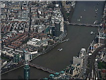 TQ3078 : Millbank and the Thames from the air by Thomas Nugent