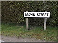 TM0664 : Brown Street sign by Adrian Cable