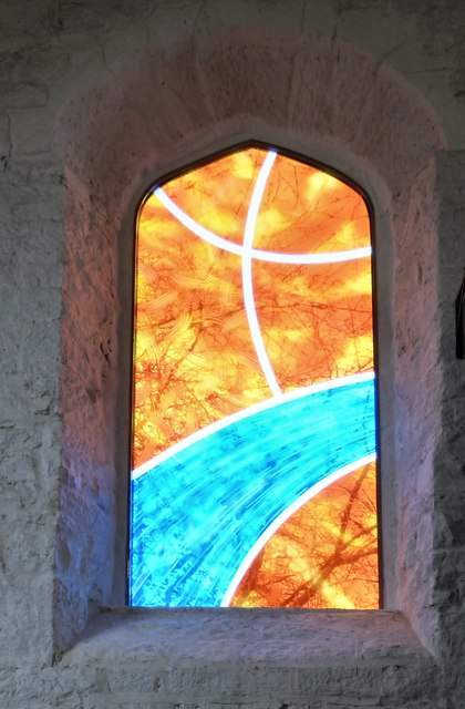 New windows at St George's: Left-hand side window