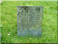 SK6929 : Hickling Churchyard - Belvoir Angel headstone by Alan Murray-Rust